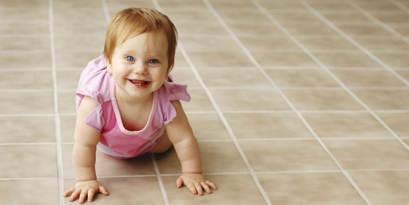 Baby on Clean Tile