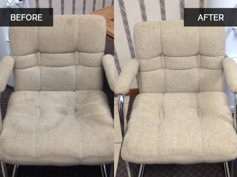 Chair Upholstery Cleaning Before and After