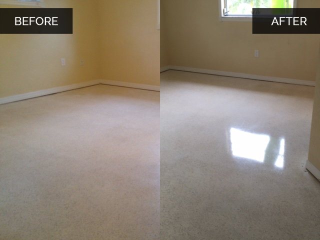 Terrazzo Floor Finish Before After